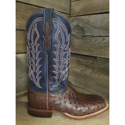 Men's Tobacco Full Quill Ostrich Boots