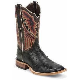 Tony Lama Men's Black Ostrich Chuquitas Boot