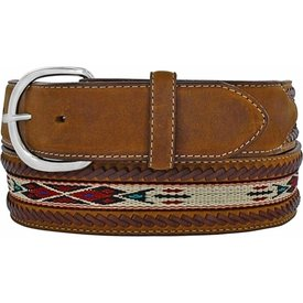 Silver Creek Men's Horse Hair Ribbon Western Belt