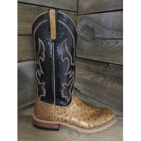 Anderson Bean Men's Black Top Full Quill Ostrich Boot