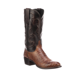 Lucchese Men's Charles Cigar Caiman Boots
