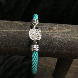 Wyo-Horse Turquoise Cable Bracelet