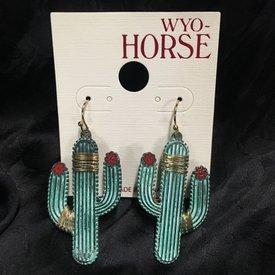 Wyo-Horse Cactus Earrings