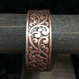 Wyo-Horse Copper Floral Cuff Bracelet