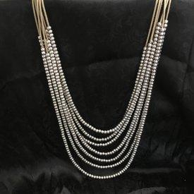 Wyo-Horse Morning Dew Layered Beaded Necklace