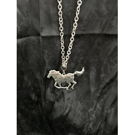 Wyo-Horse Silver Horse Pendant Necklace