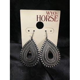 Wyo-Horse Boho Teardrop Silver Earrings