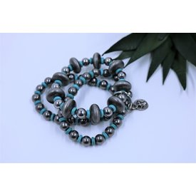 West & Co. Silver and Turquoise 3 Strand Bracelet