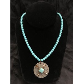 West & Co. Turquoise Arrow Charm Necklace