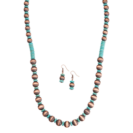 West & Co. Bunished Copper and Turquoise Jewelry Set