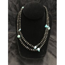 West & Co. Long Black and Turquoise Necklace