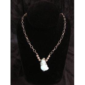 West & Co. Turquoise Slab Pendant Necklace