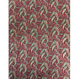 Wyoming Traders Wine and Olive Paisley Wild Rag
