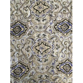 Wyoming Traders Ivory and Gold Paisley Wild Rag