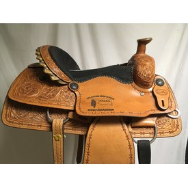 SRS Saddlery Black Stingray Seat Trophy Saddle