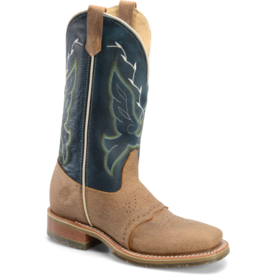 Double H Tan and Midnight Blue Square Toe Boot C3 9.5B