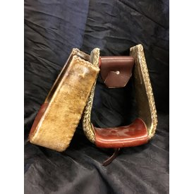 Metal Stirrups w/ Rawhide Outer Stirrups