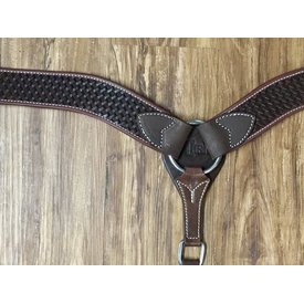 Cashel Chocolate Basketweave Breastcollar
