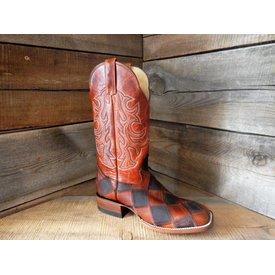 Hondo Men's Checkered Western Boot C4 8D