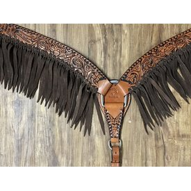 Rafter T Tooled Fringe Breastcollar