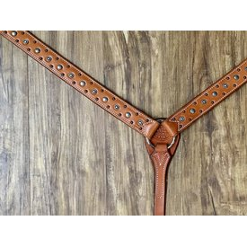 Martin Natural Skirting Breastcollar with Silver Dots