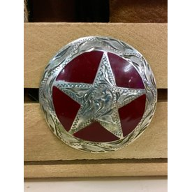 Large Red Star Screw Conchos