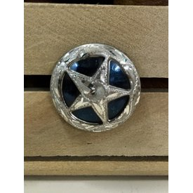 Medium Black Engraved Star Screw Conchos