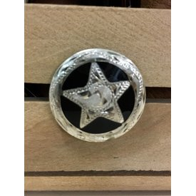 Medium Black Star Screw Conchos