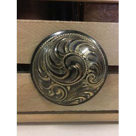 Large Gold Engraved Screw Concho