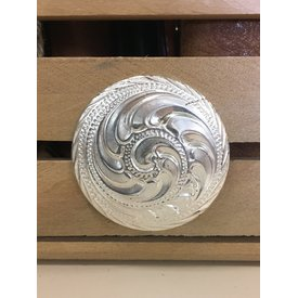 Large Silver Swirl Rope Edge Screw Concho