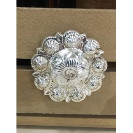 Med/Large Silver Berry Flower Screw Conchos