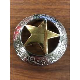 XLarge Silver/Gold Sheriff Star CS Concho