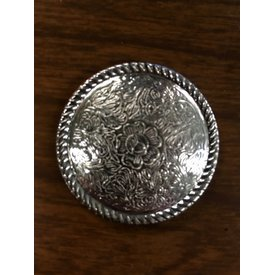 Large Silver Pressed Rope Edge CS Concho