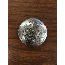 Large Silver Engraved Filigree Border CS Concho