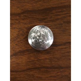 Small Flat Silver Engraved Plain Border CS Concho