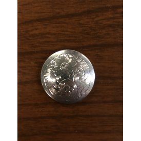 Medium Flat Silver Engraved Plain Border CS Concho