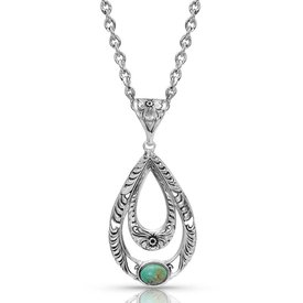 Montana Silversmiths Hidden Canyon Teardrop Turquoise Necklace