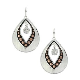 Montana Silversmiths Open Teardrop Dangle Stone Earrings