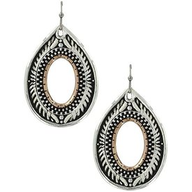 Montana Silversmiths Feather Filigree Teardrop Earrings