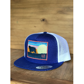 Lazy J Ranch Wear Sky Patch in Blue and White Cap