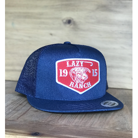 Lazy J Ranch Wear Red Ranch Patch Navy Cap