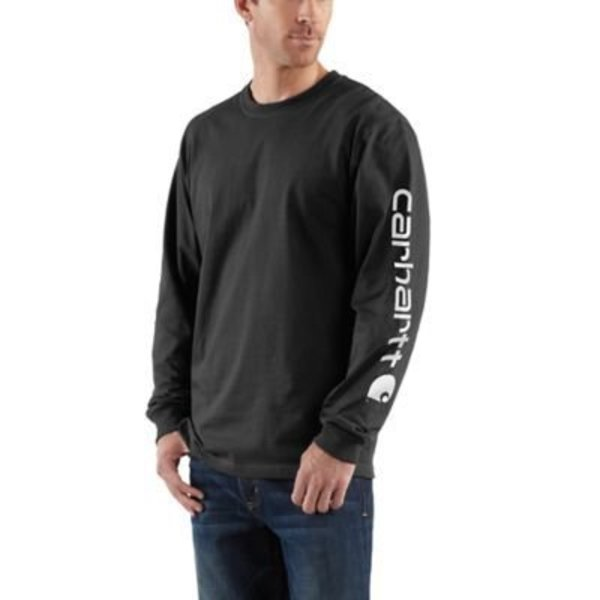 e96010fc1 Carhartt Men's Carhartt Long Sleeve Graphic Logo T-Shirt K231-BLK ...