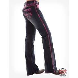 Cowgirl Tuff Hot Pink Sequined Jeans C4