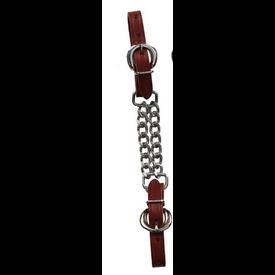 Berlin Custom Leather Latigo Double Chain Curb Strap