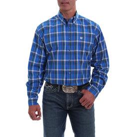 Cinch Men's Royal Blue Plaid Long Sleeve