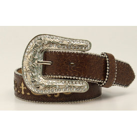 M&F Children's Brown Crackle Belt N4423102