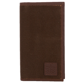Stran Smith Chocolate Canvas Long Bifold