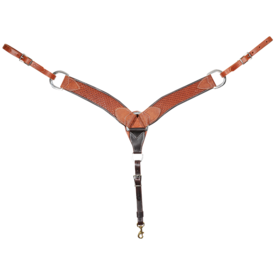 Martin Saddlery Waffle Stamped Chestnut Breastcollar