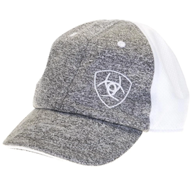 Ariat Heather Grey White Infant Cap