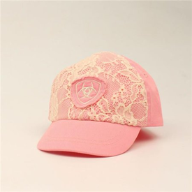 Ariat Pink Lace Infant Cap